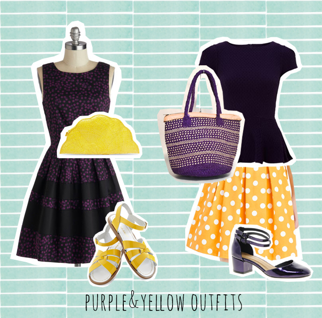 purple and yellow outfit inspiration