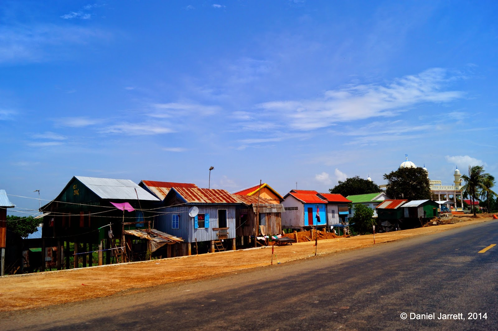 Row of houses, Cambodia