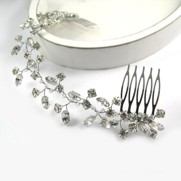 Ślubna ozdoba do włosów z kryształkami - Airy.