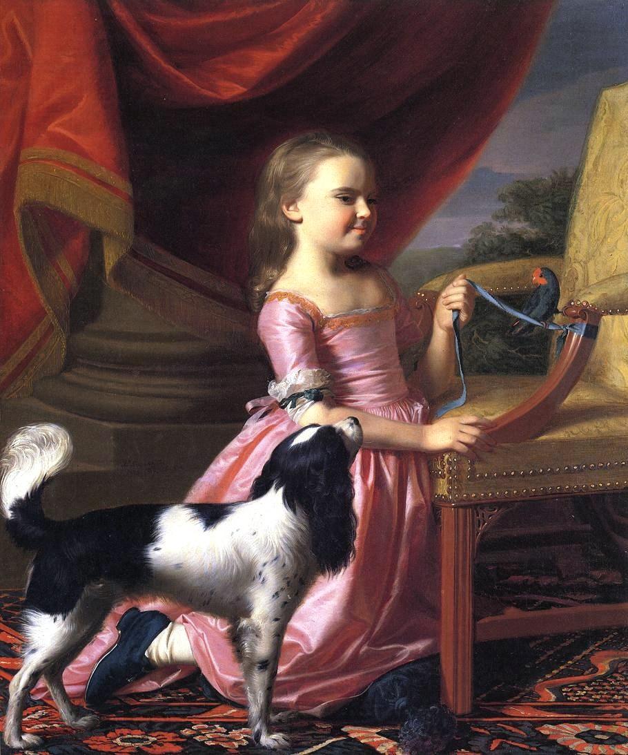 1767 John Singleton Copley (American artist, 1738-1815). Girl with ...