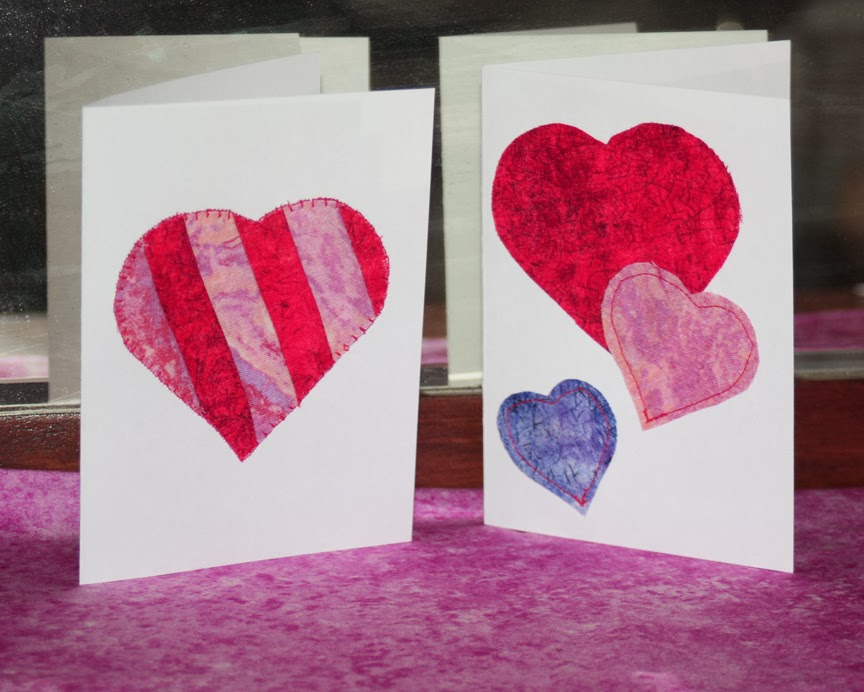 Inspired by Fabric Quick Easy Valentines Day Cards – Easy Valentine Card