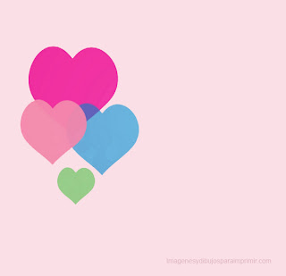 globos con forma de corazon para imprimir