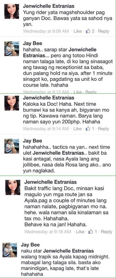Full conversation Jay Bee jollibee delivery issue