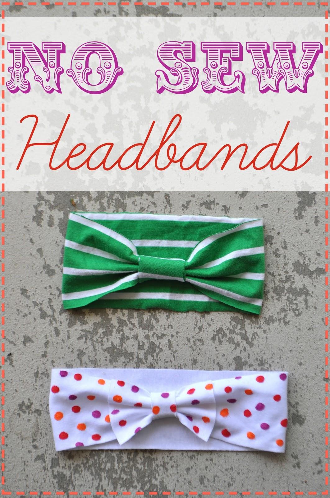 i am momma - hear me roar: no sew headbands