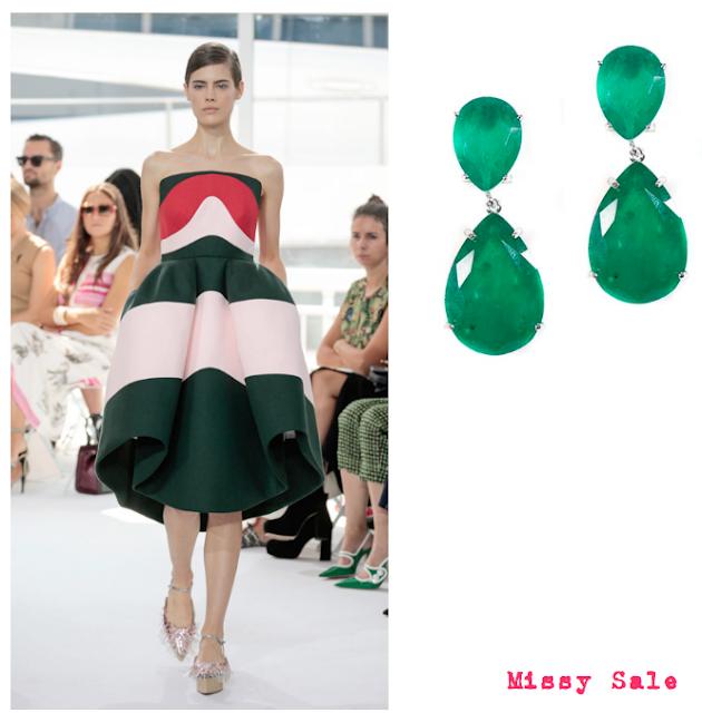 DelPozo SS 2016 con pendientes de esmeraldas -Missy Sale-