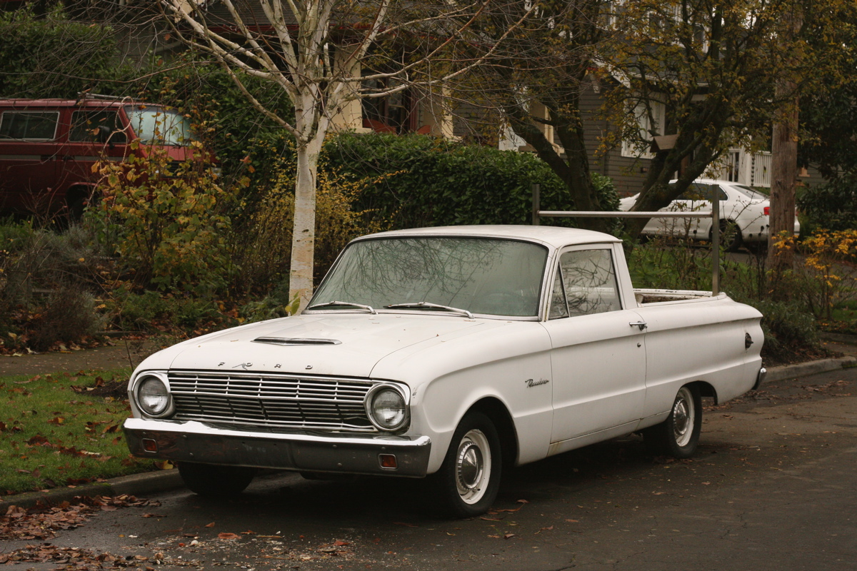 old parked cars 1962 ford falcon ranchero