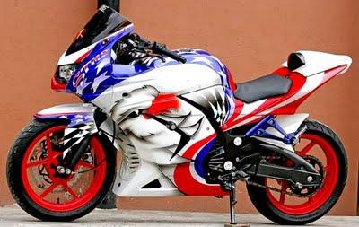 Ninja 250 Airbrush Modif Terbaru title=