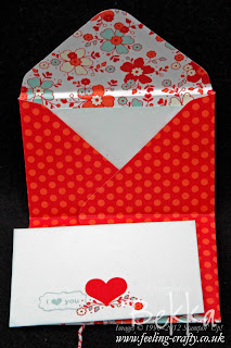 My Little Valentine Sealed with Love Pocket by Stampin' Up! Demonstrator Bekka Prideaux
