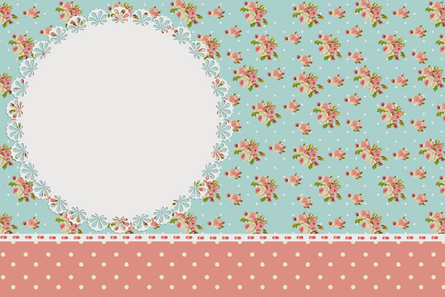 Shabby Chic In Pink And Light Blue Free Printable Invitations
