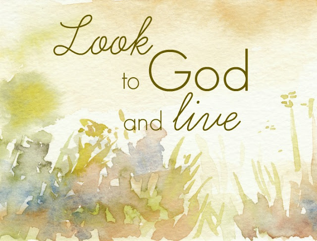 Inspirational Quote: Look to God and Live