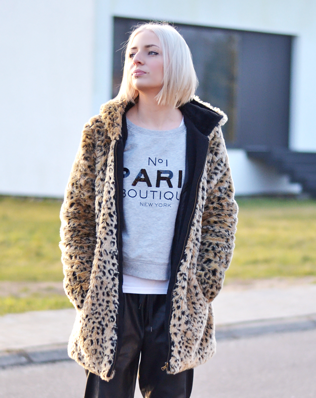 Wearing: Zara, fur coat, leopard print, paris boutique, fashion blogger, belgian blogger, belgium, street style