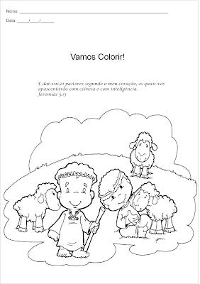 Dia do Pastor - Atividade para colorir