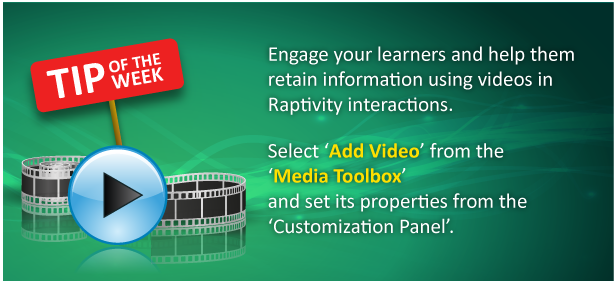 Tip of the Week: Harness the power of videos in Raptivity interactions