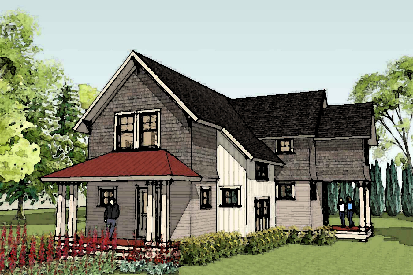 Farmhouse plans country house plans home designs new for Custom house ideas