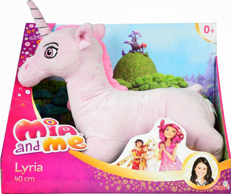 TOYS - Peluche Unicornio Lyria : Mia and Me Juguete Oficial | Simba | 40 cm | A partir de 0 meses