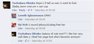 Annie idibia facebook comments