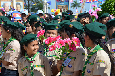 Cambodian girl scouts
