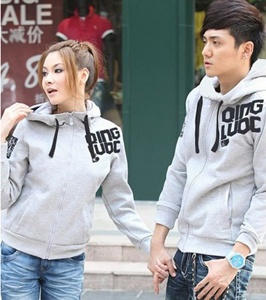 Jual Jacket Grey Qing Couple Online Murah di Jakarta Lengan Panjang Trendy