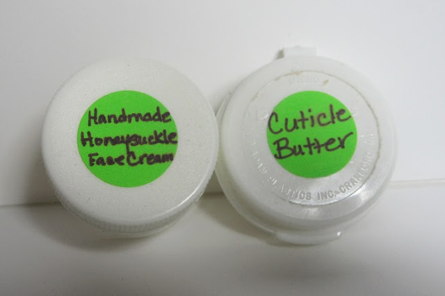 Handmade Honeysuckle Face Cream and some Lavender Cuticle Butter