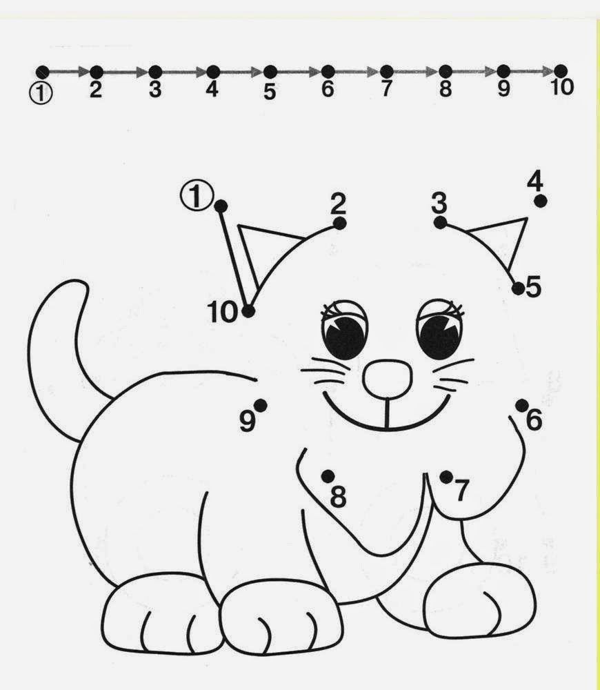 Kids Under 7 Free dot to dot worksheets for kids Part 2 – Worksheet for Kids