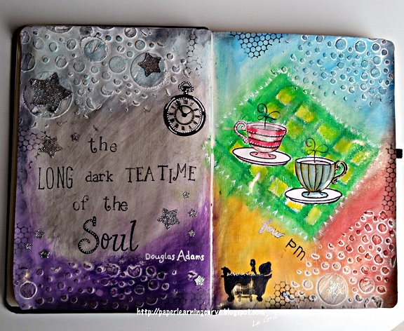 Paper Learning Curve - Grá O'Neill: Avery Elle Alice & Friends, Tea Time, Lawn Fawn Violet's ABCs, Smitty's ABCs, Sally's ABCs, Paper Smooches Mini Monograms, Papermania Forever Friends Handscript Alphabet, Numbers & Months,Prima Finnabair Stars, Bubbles Stencils