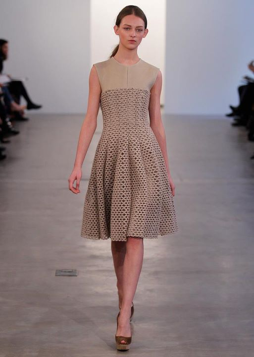 CK khaki bonded dress