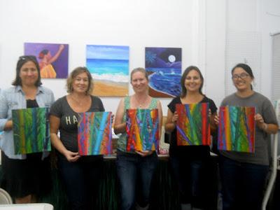 kauai art class parties acrylic painting