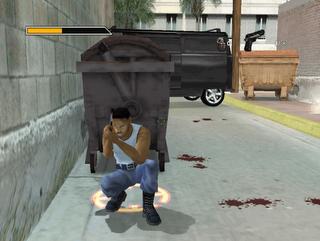Bad Boys 2 games man behind dustbin