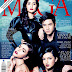 Kris Bernal, Sarah Lahbati, Bela Padilla and Alden Richards on the cover of MEGA Magazine July issue
