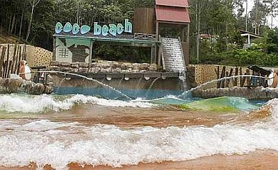 Fun slides at a water theme park in Pahang. — K. T. GOH