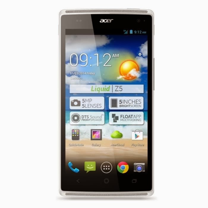 Acer Z5 Liquid Duo Blanc Smartphone Comparatif