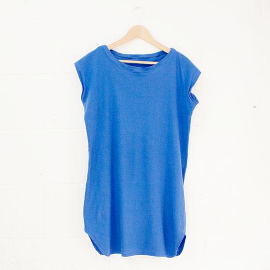 easy T-shirt dress tutorial