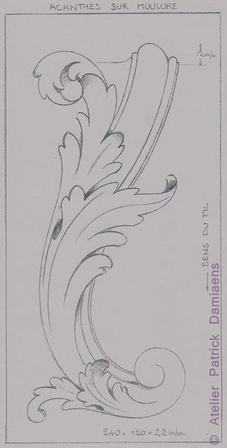 Sculpture ornementale patrick damiaens la feuille d - Feuille d acanthe ...