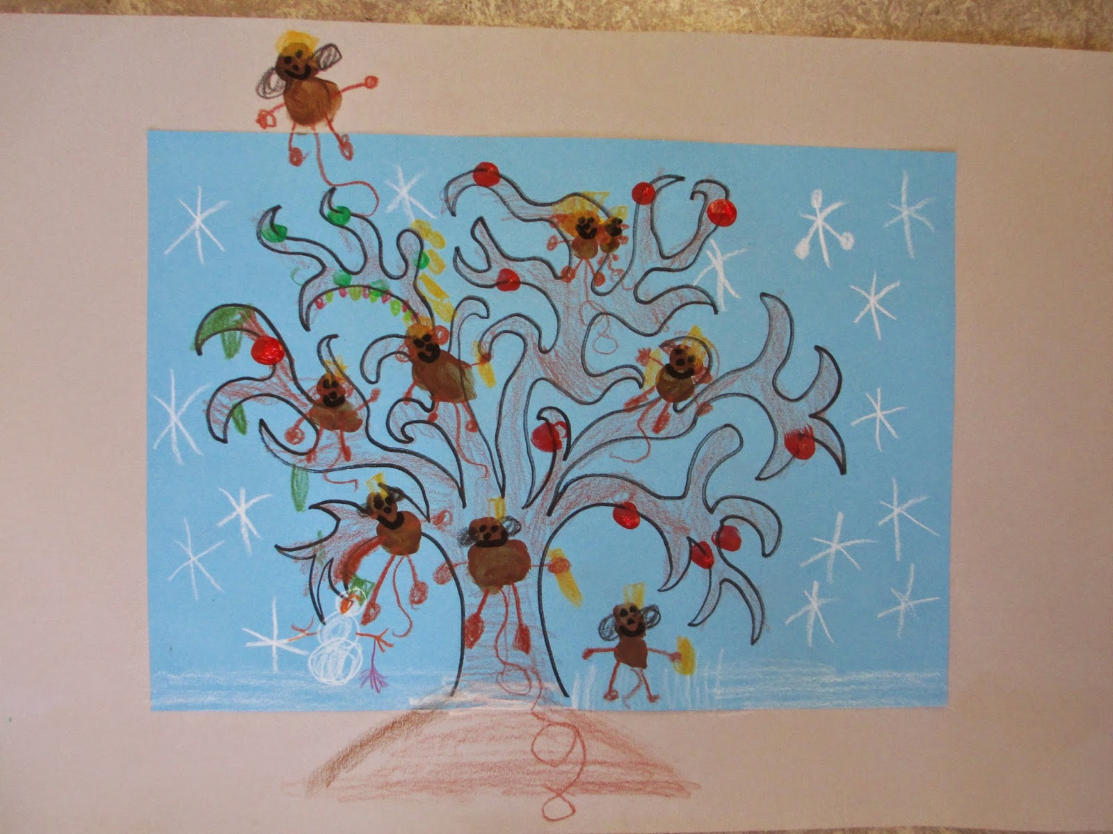 Affenfamilie zeichnen