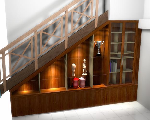Home design interior interior design wood stairs for Kitchen set bawah