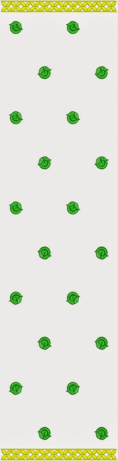 eenvoudige masjien borduurwerk Dupatta styl