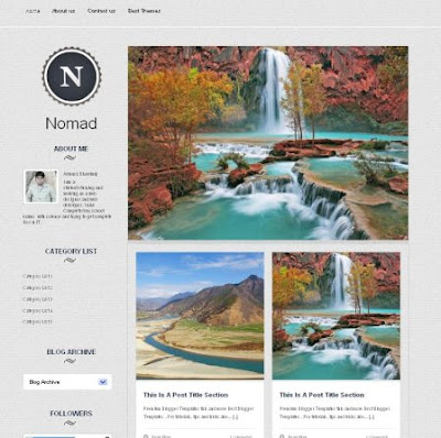 Nomad Blog Template