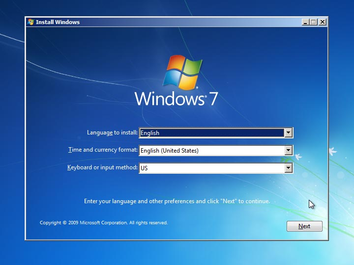 how to install windows 7 professional 64 bit step by step