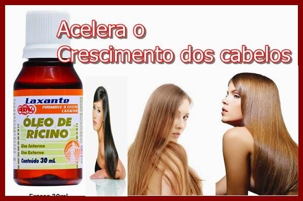 óleo de rícino para acelerar o crescimento dos cabelos