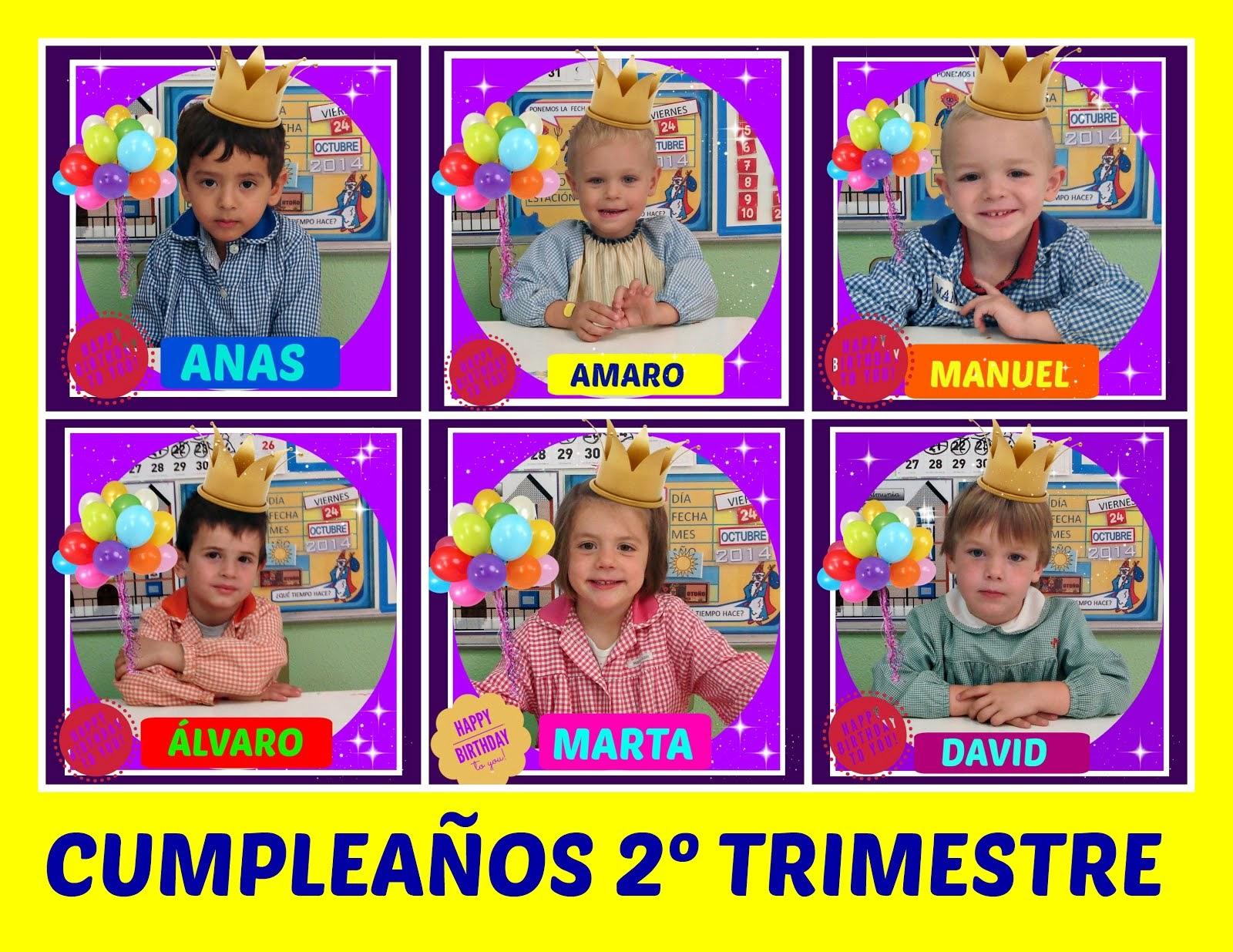 CUMPLES 2º TRIMESTRE