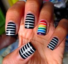 Fingernail designs november 2013 this easy nail art can be had by painting your nails black and then using a toothpick to paint horizontal lines across the nail prinsesfo Gallery