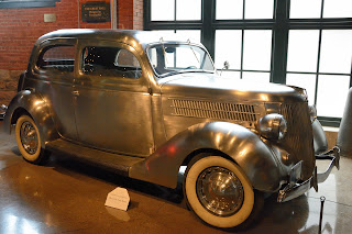 Stainless steel car at the Heinz History Museum