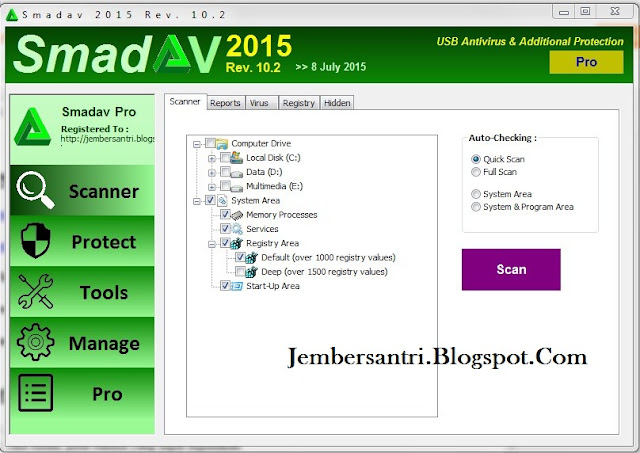 Smadav Pro Rev 10.2 Full Serial Number Key Terbaru 2015