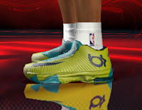 NBA 2K13 Nike KD 6 Shoes Yellow / Teal version