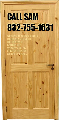 Call Sam 832-755-1631 Call today for Door Repair Estimates Quotes Proposals in Durham, Chapel Hill and Cary, NC.