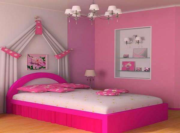 macam kominasi warna cat kamar untuk anak perempuan