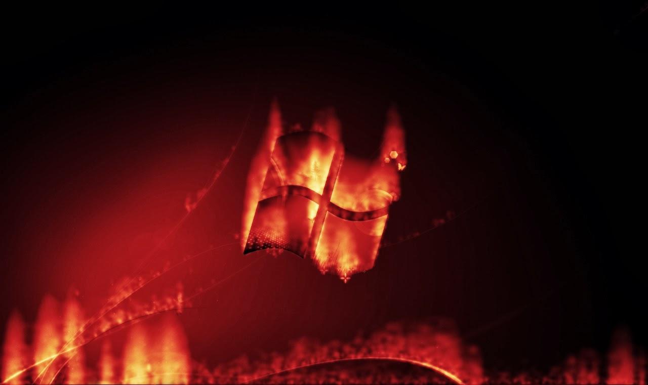 Imágenes Hilandy: Fondo de Pantalla Bandera windows de fuego