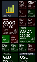 Stock Plus Windows Phone App