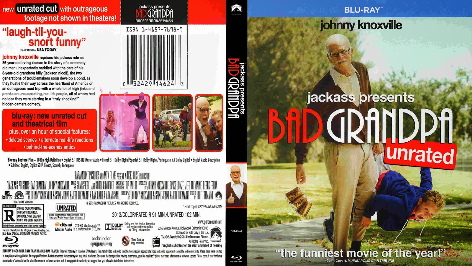 Jackass Presents Bad Grandpa  2013  - Cover Blu-Ray MovieBad Grandpa Dvd Cover