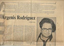 ORLANDO ARAUJO SOBRE ARGENIS RODRÌGUEZ